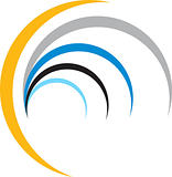 colourful half moon logo