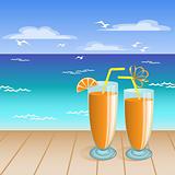 Juice on the beach