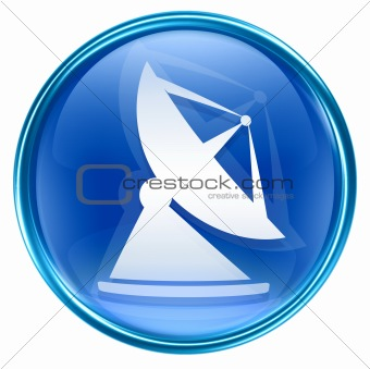 Antenna icon blue, isolated on white background