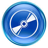 Compact Disc icon blue, isolated on white background