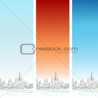 Chicago Vertical Banner Set