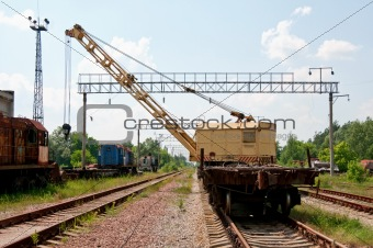 Old Rail Track Mounted Crane