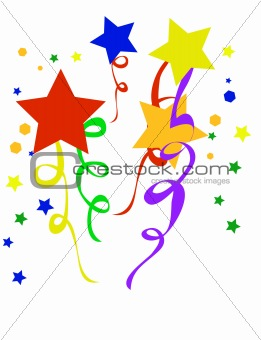 Abstract holiday background. Vector illustration confetti