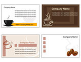 Template designs of menu and business card for coffee shop and r