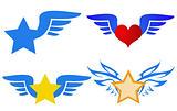 flying logos vector