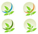 vector logo elements set environmental