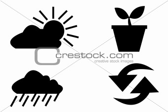 vector logo elements set environmental