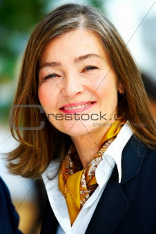 Cheerful senior business woman