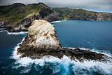 Rocky Hawaiian coast.