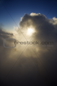 Skyscape with clouds.
