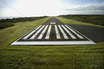 Airplane landing strip.