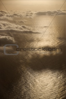 Aerial of ocean.