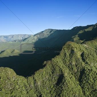 Green Maui mountain.