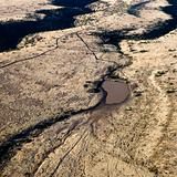 Arizona aerial landscape.