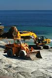 excavator / dredge at work