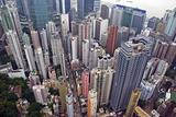 Hong Kong Wan Chai from above