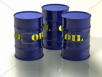 Oil barrel 3d