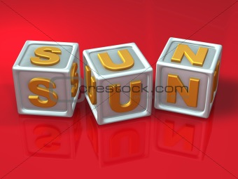 block letters - 3d concept illustration