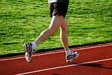 Man on a racetrack