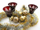 Christmas globes and drink glasses