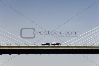 Cars over the bridge