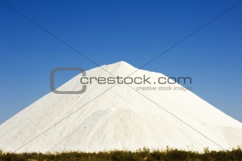 Heap of sea salt in a marsh
