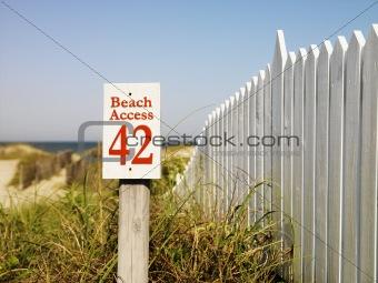 Beach access.