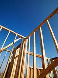 Wooden framework.