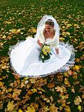 Bride in Yelow Leaves