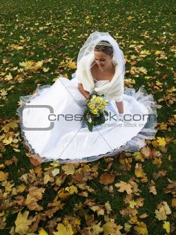 Bride in Yelow Leaves