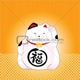 japanese maneki-neko (lucky cat)