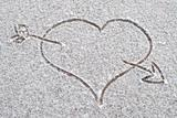 Loveheart in the Snow