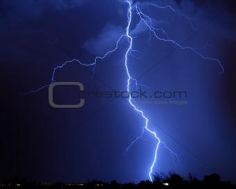 Lightning over Tucson, AZ