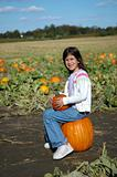 Girl on Pumpkin