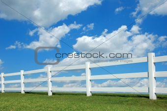 Country Fence ald Clouds