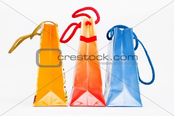 Christmas colorful paper bags