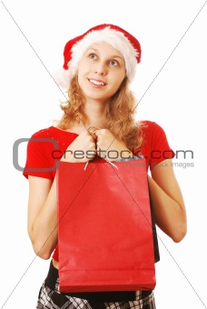 Santa Girl with bags