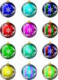 Glass Christmas Ornaments Set #1 Snowflakes