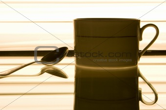 Coffee cup and the spoon