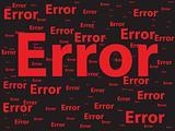 Error illustration