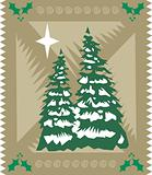 Stylized Christmas card. Vector format