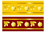 Golden Christmas ribbons