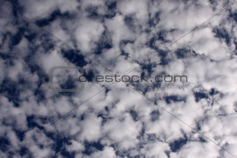 Beautiful clouds on a deep blue sky.