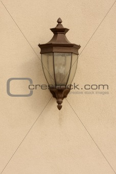 Beautiful Wall Lamp on Stucco Wall