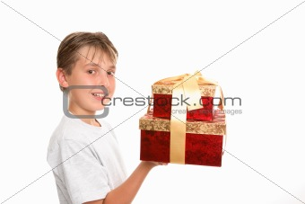 Bringing gifts at Christmas