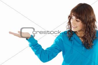 Girl holding nothing