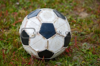 Old soccer ball