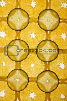 Citrus slice design.