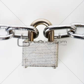 Padlock with chains.
