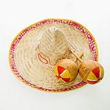 Sombrero and maracas.
